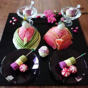 ビーツパウダーの雛人形寿司