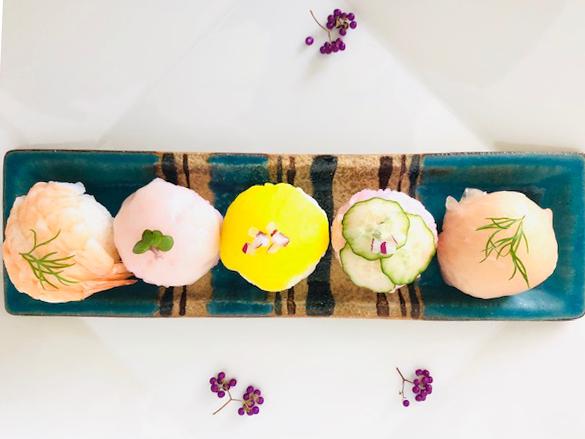 野菜パウダー手まり寿司